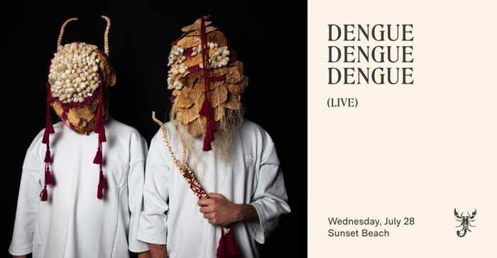 July 28 2021 Sunset Ritual featuring Dengue Dengue Dengue at Scorpios beach club on Mykonos