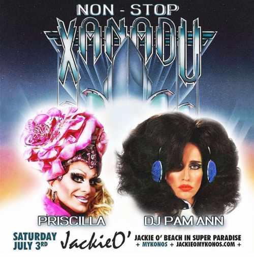 JackieO Beach Club Mykonos presents Priscilla and DJ Pam Ann