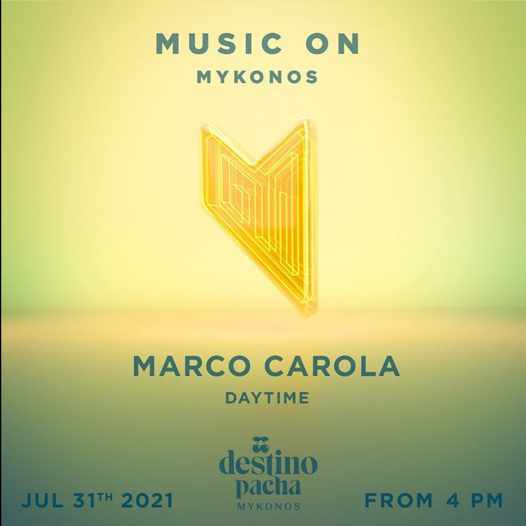DJ Marco Carola at Destino Pacha Mykonos