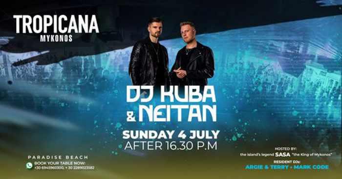 July 4 2021 party at Tropicana beach club Mykonos