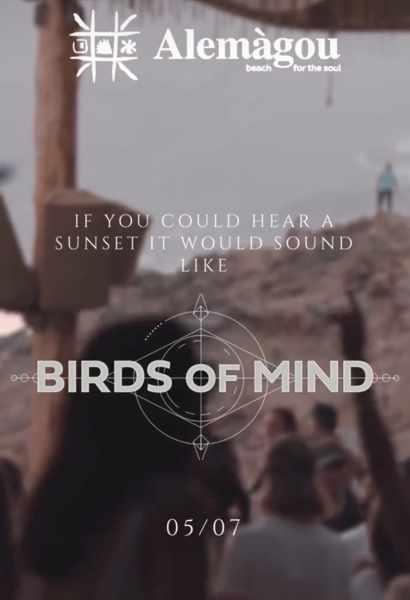 Alemagou beach club Mykonos presents Birds of Mind