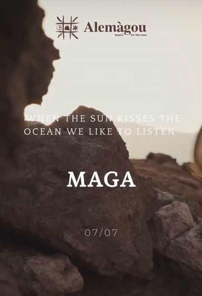 Alemagou beach club Mykonos presents MAGA