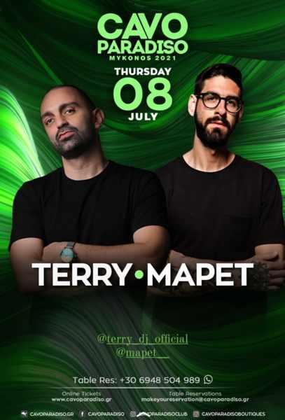 Cavo Paradiso Mykonos presents DJs Terry and MaPet