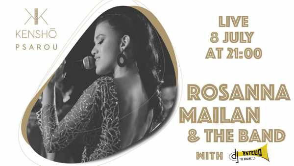 Roseanna Mailan at Kensho Psarou hotel on Mykonos