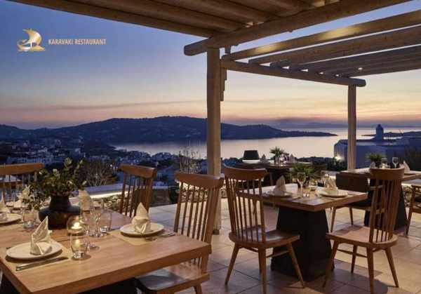 Karavaki restaurant on Mykonos seen in an image from its social media pages