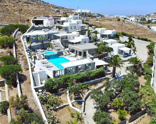 Leonis Summer Houses on Mykonos seen in an image from its social media pages