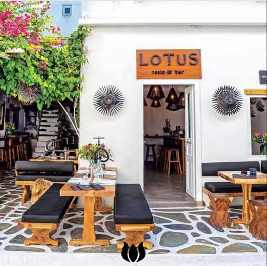 Lotus restaurant on Mykonos seen in an image from its social media pages