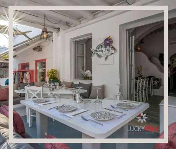 Lucky Fish restaurant on Mykonos