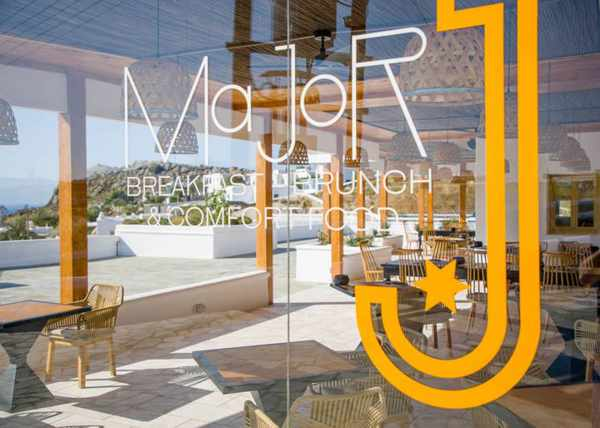 Major J restaurant on Mykonos seen in an image from its social media pages