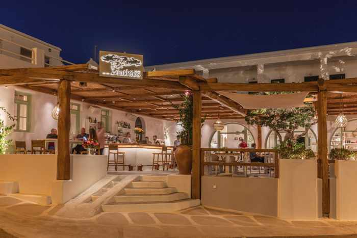 Mathios Taverna at Tourlos Mykonos seen in a photo from the restaurant page on Facebook