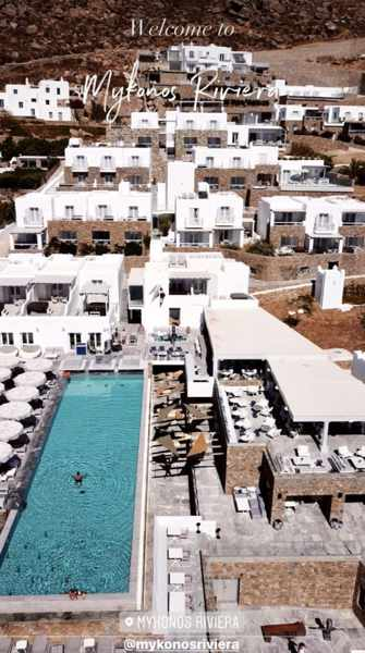 Mykonos Riviera seen in an aerial image from the hotels social media pages