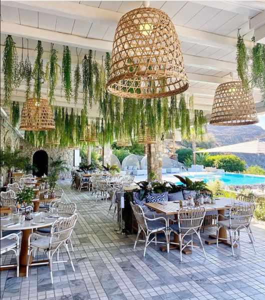 Mykonos Social restaurant at the Santa Marina Resort on Mykonos