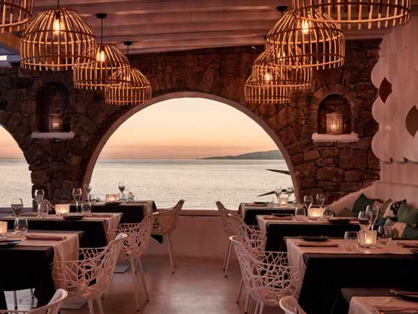 Narcissus restaurant on Mykonos