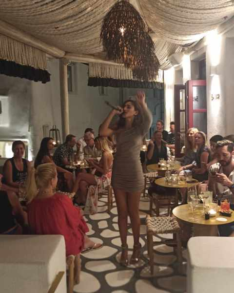 October 13 2021 54 Cocktail Bar & Sunset Lounge on Mykonos presents singer Sarah Harrar