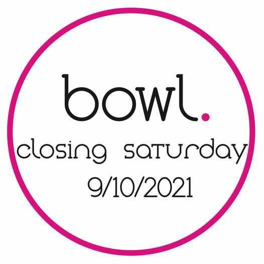 October 9 2021 closing announcement for Bowl restaurant on Mykonos