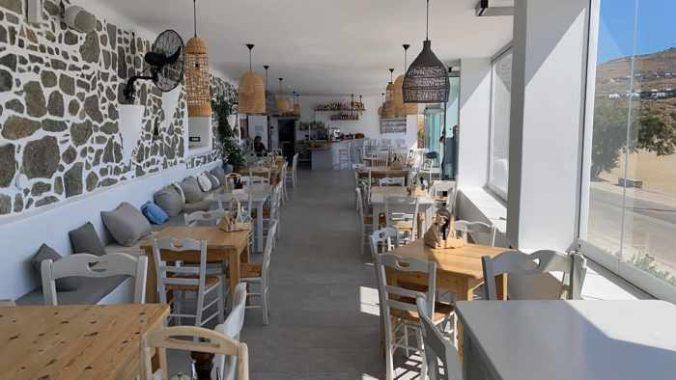 Petrino Aquarius restaurant on Mykonos
