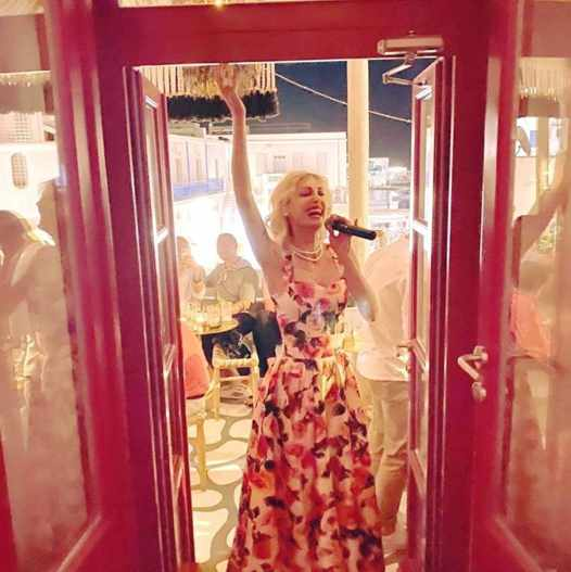 54 Cocktail Bar & Sunset Lounge Mykonos presents singer Kelly Kaltsi