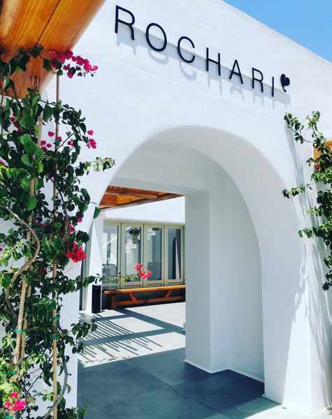 Rochari Hotel Mykonos entrance photo from the hotel pages on social media