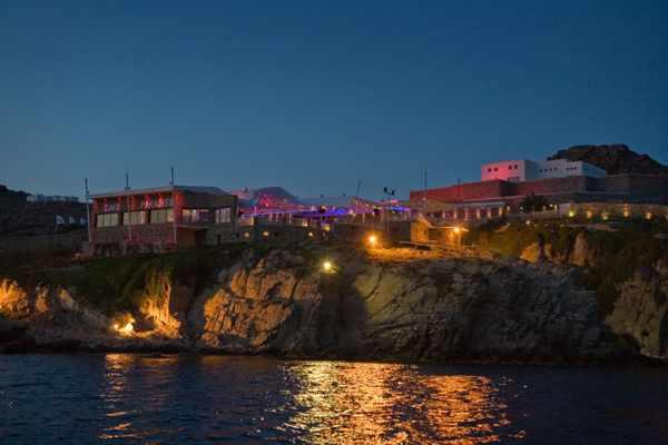 Sea view photo of Cavo Paradiso club on Mykonos