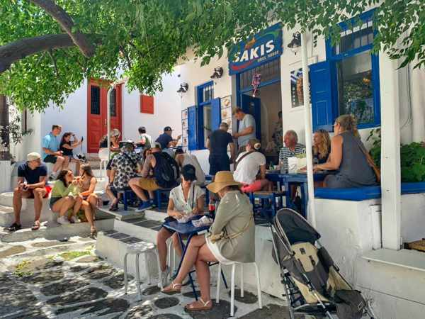 Sakis Grill House Mykonos seen in an image from the restaurants social media pages