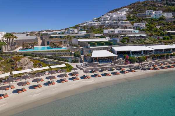 Santa Marina Resort Mykonos seen in a photo from the hotels social media pages