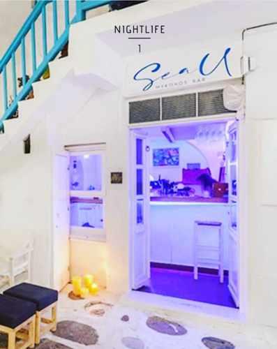 SeaU Mykonos Bar on Mykonos island