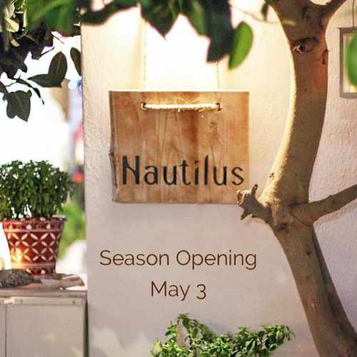 2021 opening announcement for Nautilus restaurant on Mykonos