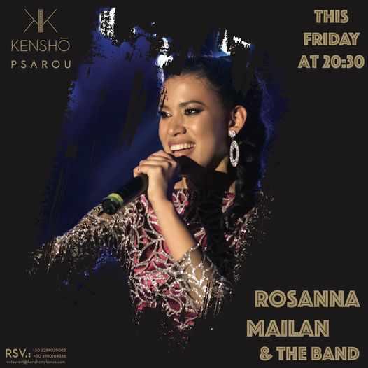 September 10 2021 Rosanna Mailan & The Band perform at Kensho Psarou on Mykonos