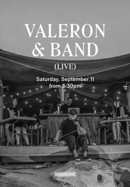 September 11 2021 Scorpios beach club on Mykonos presents Valeron & Band