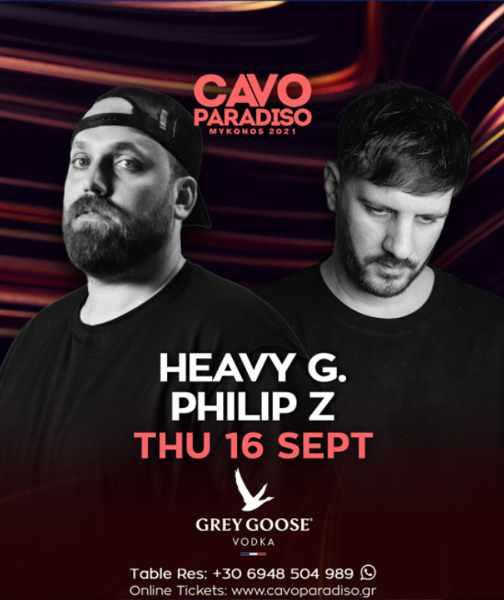 September 16 2021 Cavo Paradiso Mykonos presents Heavy G and Philip Z