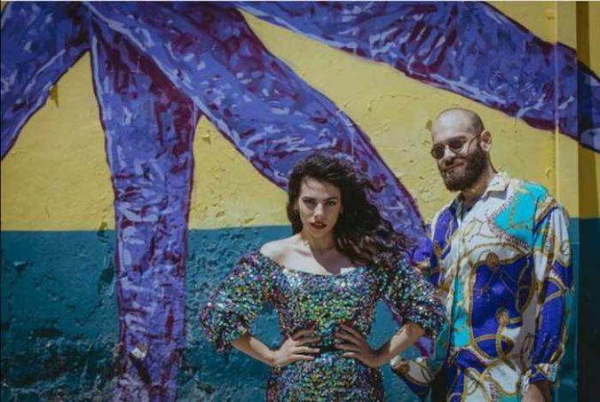 September 17 2021 Singers Emmanouela Chouli & Nick McAdasis perform at 54 Cocktail Lounge & Skybar on Mykonos