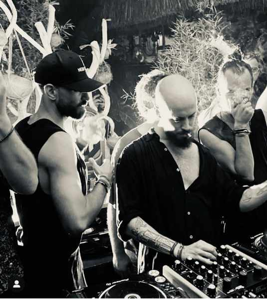 September 18 2021 Hippie Fish Mykonos SOI party with DJs Joe Maglia and NIck Morgan