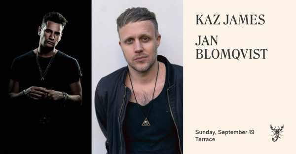 September 19 2021 Scorpios beach club Mykonos presents Jan Blomqvist and Kaz James