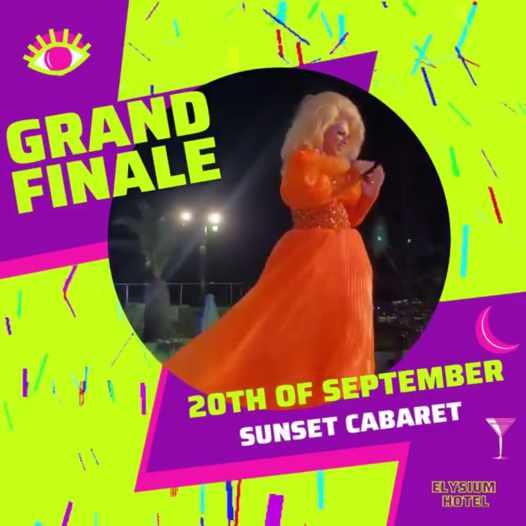 September 20 2021 Sunset Cabaret Grand Finale at Elysium Hotel on Mykonos