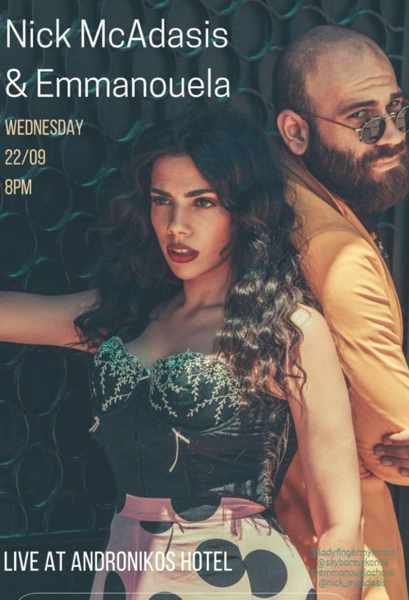 September 22 2021 Andronikos Hotel on Mykonos presents live music entertainment
