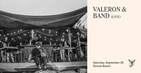September 25 2021 Scorpios beach club Mykonos presents VAleron & Band