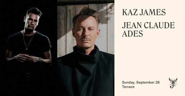 September 26 2021 Scorpios beach club Mykonos presents Kaz James and Jean Claude Ades
