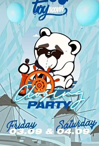 September 3 and 4 2021 Toy Room Club Mykonos closing parties