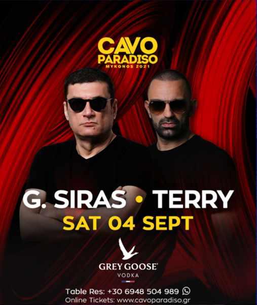September 4 2021 Cavo Paradiso Mykonos presents DJs G Siras and Terry