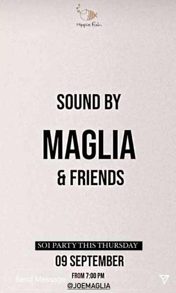 September 9 2021 Hippie Fish Mykonos presents DJ Joe Maglia