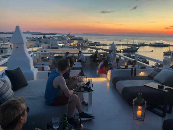 SkyBar at The TownHouse boutique hotel in Mykonos Town