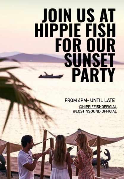 Hippie Fish Mykonos sunset party