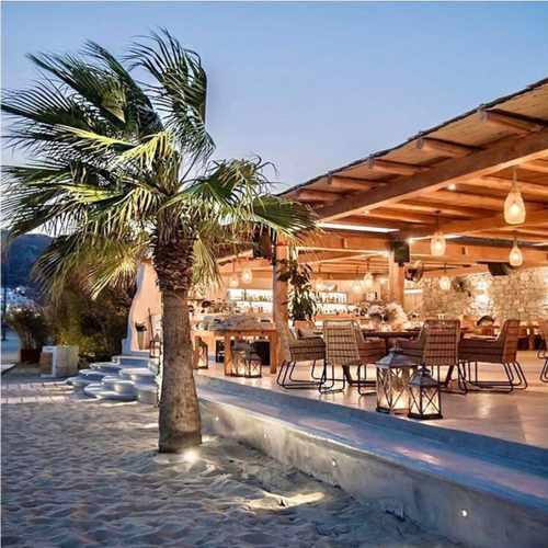 Solymar beach restaurant on Mykonos