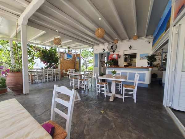 Stasi Diethnes restaurant Mykonos seen in a photo shared on Facebook by Lorna Campari