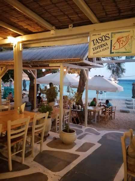 Tasos Taverna on Mykonos