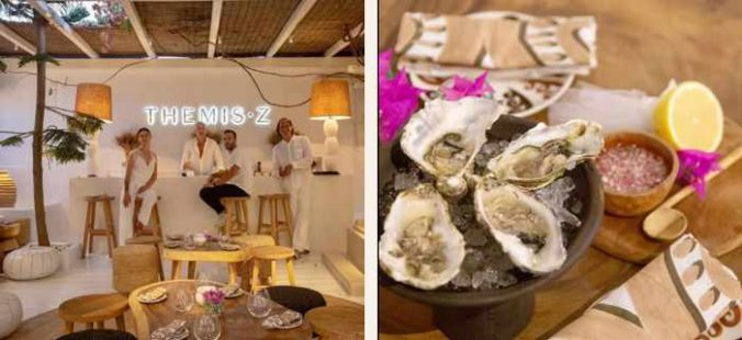 Oyster Bar Evenings at Themis Z shop in Mykonos