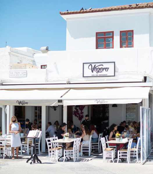 Vegera restaurant and bar on Mykonos seen in an image from its social media pages