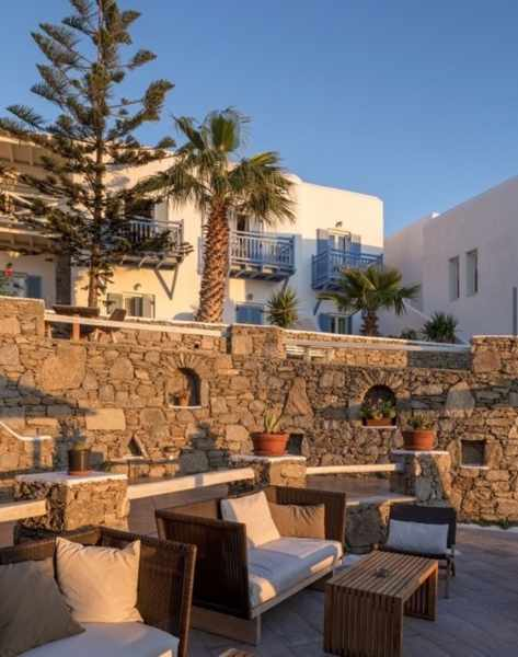 Vencia Hotel on Mykonos seen in an image from its social media pages