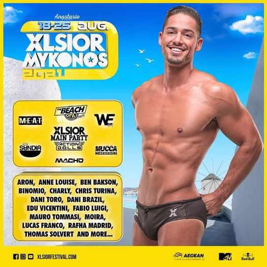 XLSIOR Mykonos Festival 2021 DJ lineup