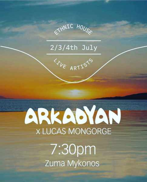 Live music at Zuma Mykonos July 2-4